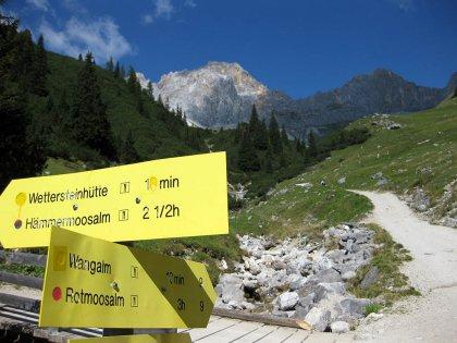 Wangalm und Wettersteinhütte