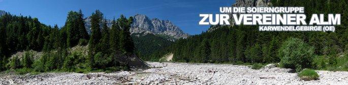 Tour des Monats September 2014: Um die Soierngruppe zur Vereiner Alm im Karwendelgebirge