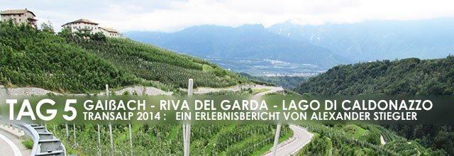 Erlebnisbericht Transalp: Rabbijoch - Val di Non - Molvenosee (Tag 5)