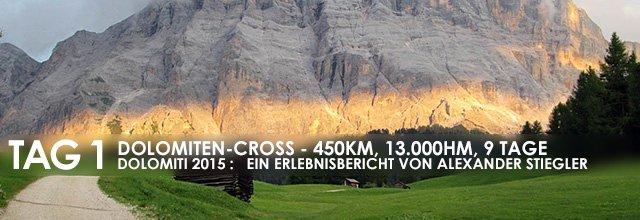 """Erlebnisbericht Dolomiten-Cross """"die große Acht"""": Der Aufbruch (Tag 1)"""