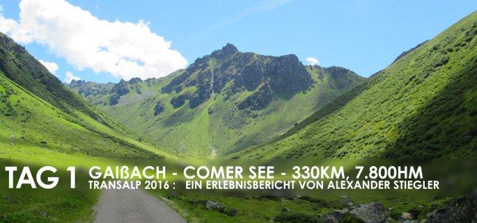 Erlebnisbericht Transalp: Gaissach - Innsbruck - Bludenz (Tag 1)